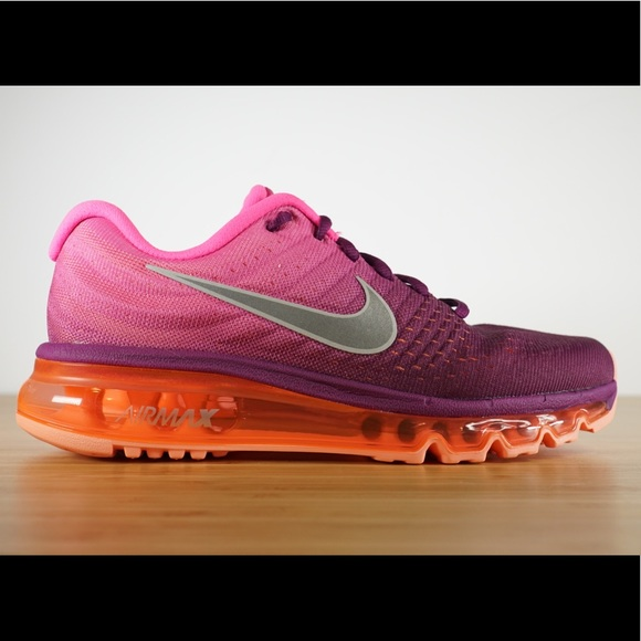 best sneakers e50fb 04c11 Nike Air Max 2017 Purple Orange Running Shoes NWT